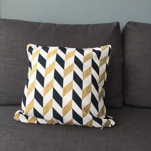 Society6 Herringbone Throw Pillow Cushion